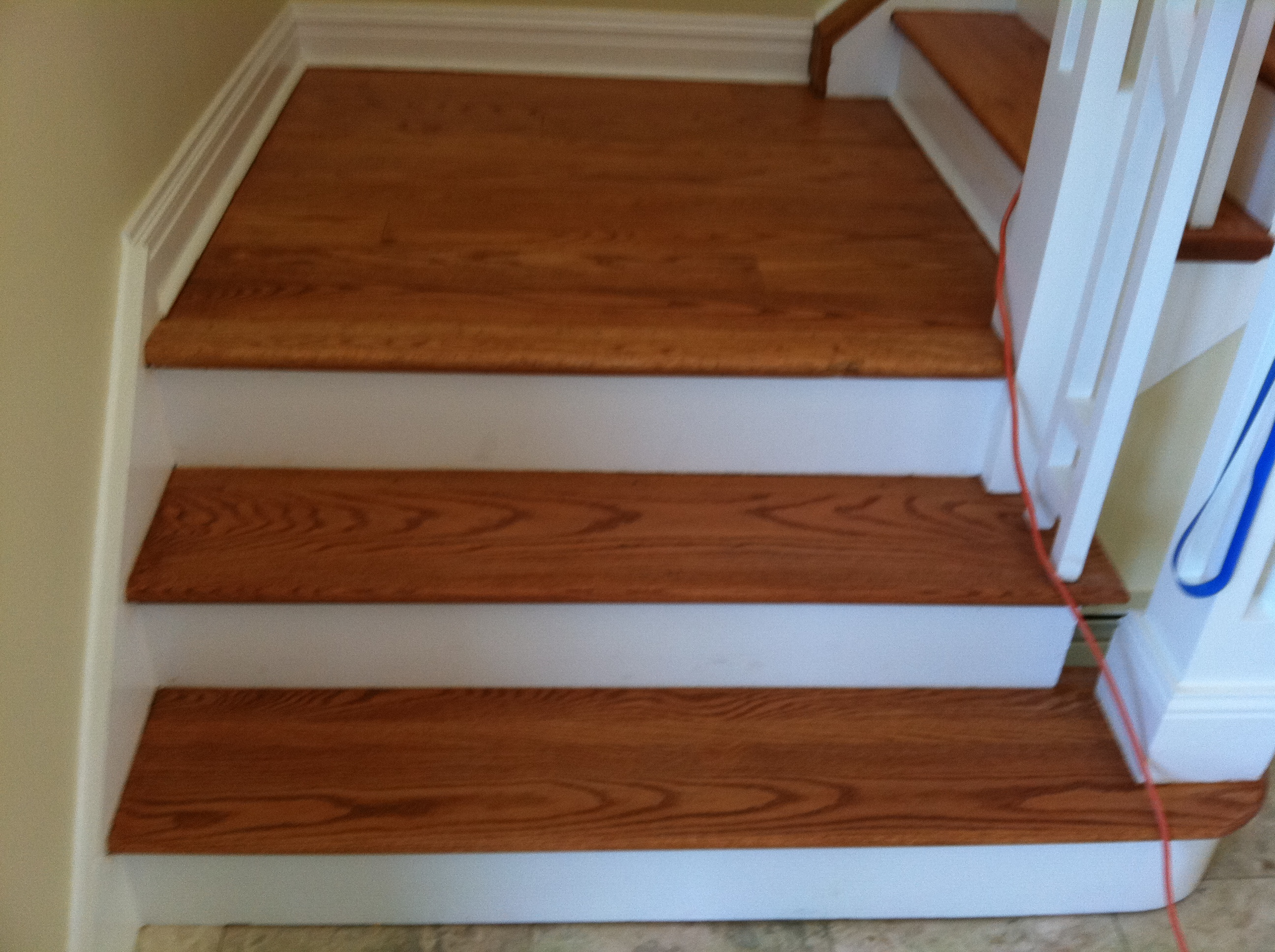 Stairs Snanding And Refinishing Installing New Steps Wood